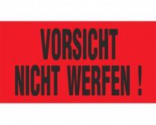 Hinweisetiketten rot VORSICHT NICHT WERFEN!, 145x76mm, 1000 Stk.