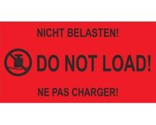 Hinweisetiketten rot NICHT BELASTEN! / DO NOT LOAD!, 145x76mm, 1000 Stk.