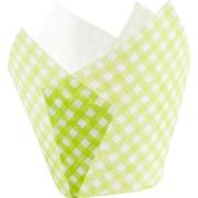 Muffin-Tulip-Wraps, Vichy limone, 160x160 mm, 1000 Stk.
