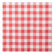 Damasttischdecke Tischtuch aus Papier, gerollt 100cm x 10m, rot/weiß karo