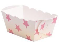 Mini-Backform, Sterne rosa, fettdicht, backfest, 70x40x40 mm, 10 Stk.