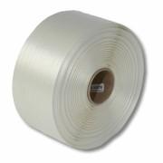 Textil-Umreifungsband, weiss, Polyester,  19 mm Breite, 600 meter auf Rolle