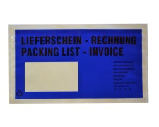 Dokumententaschen *Lieferschein/Rechnung* DIN Lang 235x130mm blau, 1000 Stk.