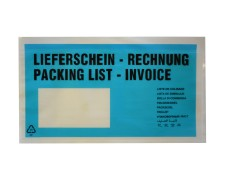 Dokumententaschen *Lieferschein/Rechnung* DIN Lang 235x130mm türkis, 1000 Stk.