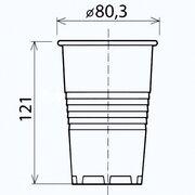 Trinkbecher weiß 0,3 l, 300 ml,  25 Stk.