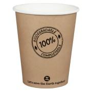 BIO Kartonbecher Kaffeebecher CoffeeToGo PLA bis 100°C, 200ml, Ø8cm, 50 Stk.