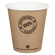 BIO Kartonbecher Kaffeebecher CoffeeToGo PLA bis 100°C, 250ml, Ø9cm, 50 Stk.