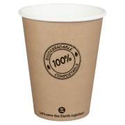 BIO Kartonbecher Kaffeebecher CoffeeToGo PLA bis 100°C, 300ml, Ø9cm, 50 Stk.