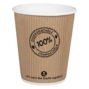 BIO Thermo-Riffelbecher CoffeeToGo PLA bis 100°C  | 200ml, Ø8cm, 25 Stk.