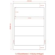 Etiketten für Ordner Rückenschilder selbstklebend weiß, 192 x 61mm, 400 Stk.