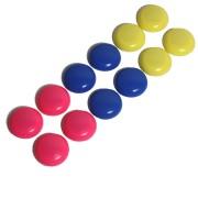 Haftmagnete Magnete rund Ø30mm farblich sortiert, 12 Stk.
