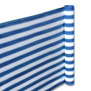Balkon Terrassen Sichtschutz 90cm x 5m blau-weiß wetterfest UV Schutz langlebig