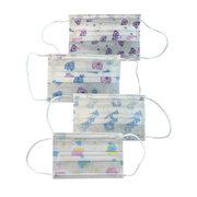 Mundschutzmaske für Kinder 3-lagig bedruckt mit niedlichen Motiven 5 Stk.