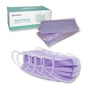 Mundschutzmasken 3-lagig mit Nasenbügel und Ohrschlaufen violett,  5 Stk.