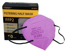 Mundschutzmasken FFP2 einzeln verpackt mit Nasenbügel rosa, 10 Stk.