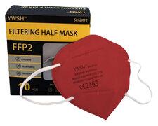 Mundschutzmasken FFP2 einzeln verpackt mit Nasenbügel rot, 10 Stk.