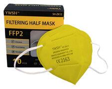 Mundschutzmasken FFP2 einzeln verpackt mit Nasenbügel gelb, 10 Stk.