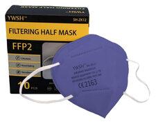 Mundschutzmasken FFP2 einzeln verpackt mit Nasenbügel violett, 10 Stk.