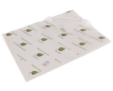 BIOFrisch Einschlagpapier fettdicht 1/8 Bogen 25 cm x 37,5 cm 12,5kg 2600 Bögen