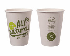 BIO Kaffeebecher Coffee to go ALL NATURAL - Zero Plastic 400ml Ø90mm,  50Stk.