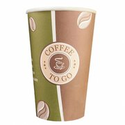 Kaffeebecher Premium, Coffee to go, Pappe beschichtet, 16oz., 400 ml, 50 Stk.