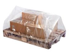 Palettenhaube aus Recyclat 1250 x 950 x 900mm transparent trüb, 100my, 50 Stk.