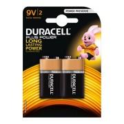 Duracell Alkaline MN1604 PLus Power 6LR61 AM-6 | 9 Volt E-Block, 2 Stk.