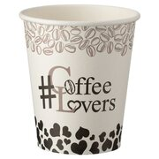 Kaffeebecher CoffeeToGo Pappbecher Design COFFE LOVERS 200ml, 50 Stk.