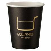 Kaffeebecher CoffeeToGo Pappbecher Design GOURMET BLACK 200ml, 50 Stk.