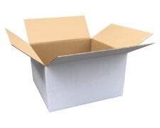 Verpackungs- und Versandkarton 600x400x400mm, 2-wellig, weiß