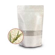 Standbodenbeutel Reispapier weiß mit Fenster, 170x285x80mm 1000ml, 1000 Stk.