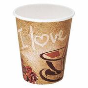 Kaffeebecher CoffeeToGo Pappbecher I LOVE COFFEE 4oz 100 ml, 50 Stk.