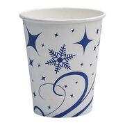 Heißgetränkebecher Pappbecher Winterdesign Schneeflocken 200 ml, 50 Stk.