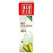 ALUFIX Biomüllsäcke Biomüllbeutel 40L mit Tragegriff biologisch abbaubar 8 Stk.