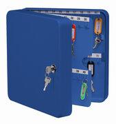 Schlüsselkasten für  70 Schlüssel inkl. Anhänger, blau