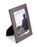 PAVO Premium Portraitrahmen Bilderrahmen Kunstleder braun hochwertig 10x15cm