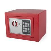 Tresor Rot 23x17x17cm mit elektronischem  Zahlenschloß für  Tisch/Wandmontage