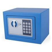 Tresor Blau 23x17x17cm mit elektronischem  Zahlenschloß für  Tisch/Wandmontage