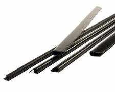Klemmschienen für 35-55 Blatt, schwarz, DIN A4, 8 mm, 25 Stk.
