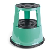 PROFI Rollhocker Elefantenfuss Rolltritt Stufe Step Metall, vintage green,Tüv/GS