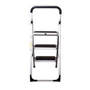 PAVO Premium 3-Stufen Haushaltsleiter Stehleiter Klappleiter 108cm aus Aluminium