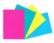 Rückwände / Deckblätter Chromo glossy, 250gr/m2, A4, hellblau, 100 Stk.