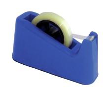 Pavo Tischabroller für 12, 16, 19 und 25mm Klebefilm mit 25+76mm Kern, blau