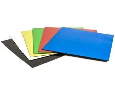 Magnethaftende quadratische Symbole, 15 x 15 cm, 6 Stück, verschiedene Farben