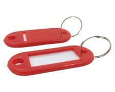 Schlüsselanhänger mit Schlüsselring und Einleger ROT