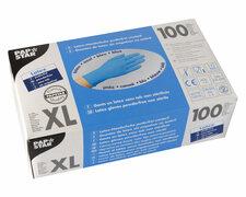 Latex Einweghandschuhe blau mit Gripstruktur puderfrei Größe XL, 100 Stk.
