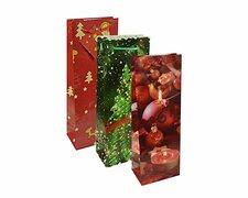 Weihnachtsgeschenktaschen Lacktragetaschen Flaschen 36x13x9cm, 10 Stk.