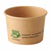 BIO Portionsbecher aus Pappe pure 45 ml braun 100% Fair. 50 Stk.