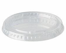 BIO Deckel für Portionsbecher, PLA pure rund Ø 6,2 cm transparent, 50 Stk.
