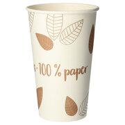 BIO Heißgetränke Trinkbecher Coffee to Go unbeschichtet braun 400ml, 50 Stk.